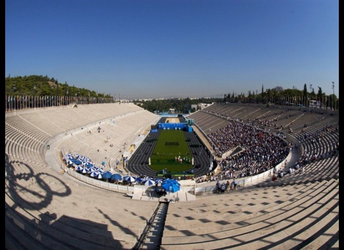 Olympic Venues Strong Panathinaiko Stadio Athens Greece Summer 1896 In Addition