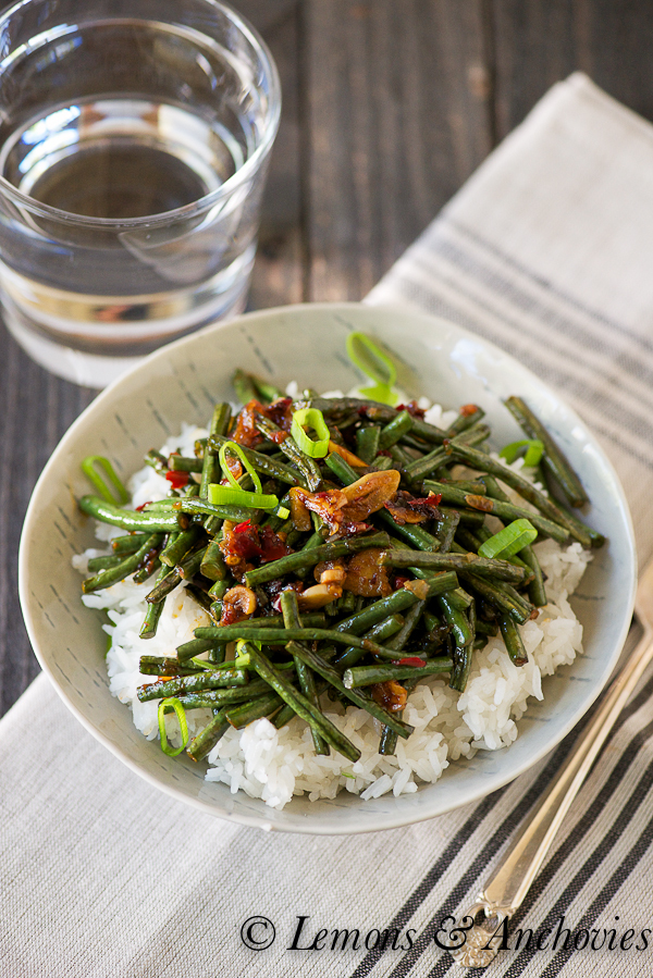 "<strong>Get the <a href=""http://lemonsandanchovies.com/2013/04/stir-fried-string-beans/"" target=""_blank"">Stir-Fried Long Bean"