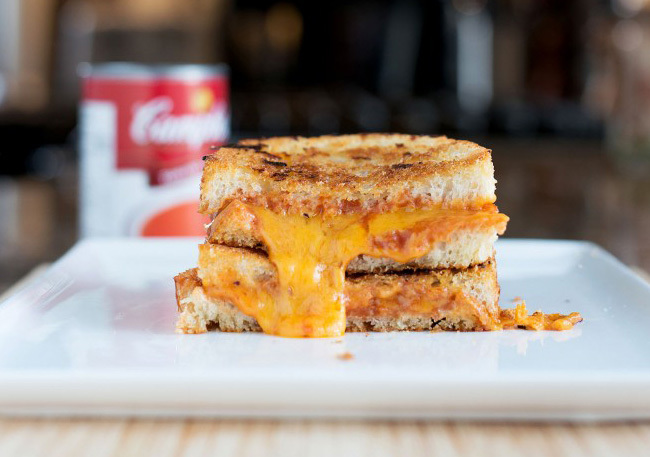 """<strong>Get the <a href=""""http://bsinthekitchen.com/tomato-soup-grilled-cheese/"""" target=""""_blank"""">Tomato Soup Grilled Cheese re"""