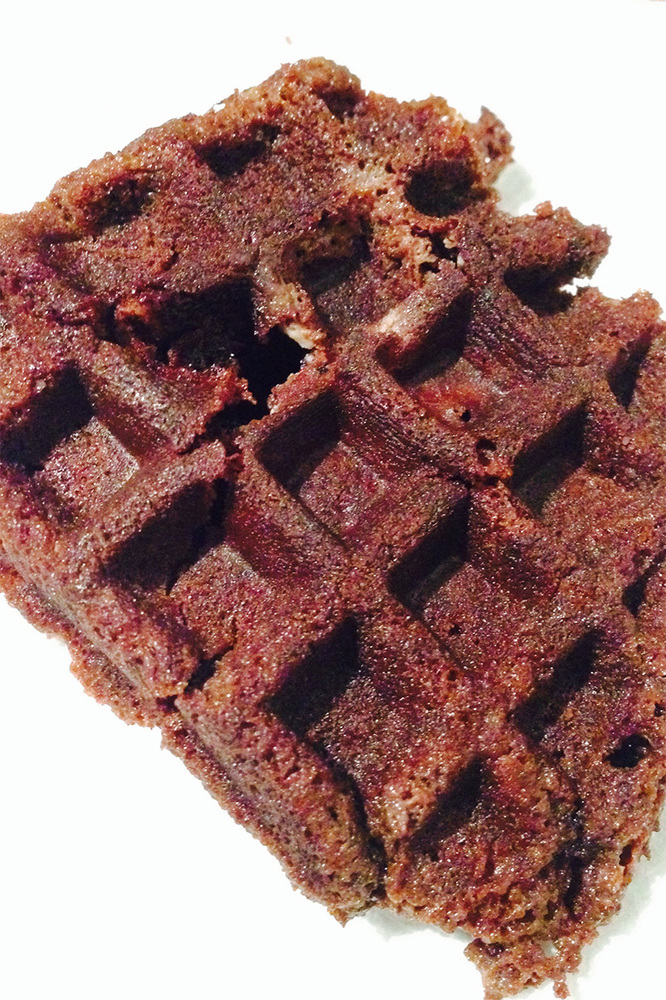 When you want a fresh cookie and simply cannot wait for even the toaster oven to bake them, the waffle iron comes through. He