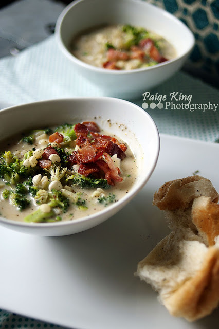 """<strong>Get the <a href=""""http://everydayfoodchallenge.blogspot.com/2012/09/broccoli-chowder.html"""">Broccoli Chowder recipe fro"""