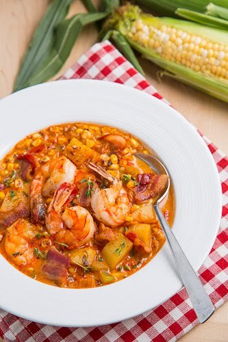 """<strong>Get the <a href=""""http://www.closetcooking.com/2012/08/shrimp-and-roasted-corn-chowder.html"""">Shrimp and Roasted Corn C"""