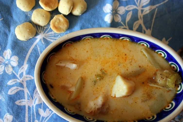"""<strong>Get the <a href=""""http://food52.com/recipes/19388-white-fish-scallop-chowder"""" target=""""_blank"""">White Fish & Scallop Cho"""