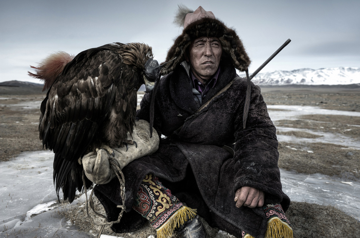 """<strong>UK - Shortlist Travel Open Competition: </strong> """"A hunter rests in his little house on the plains of Western Mongol"""