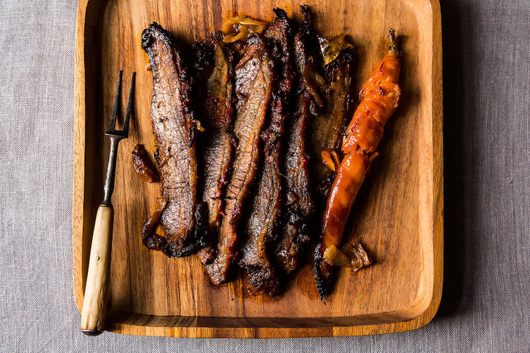 "<strong>Get the <a href=""http://food52.com/recipes/19878-nach-waxman-s-brisket-of-beef"" target=""_blank"">Nach Waxman's Brisket"