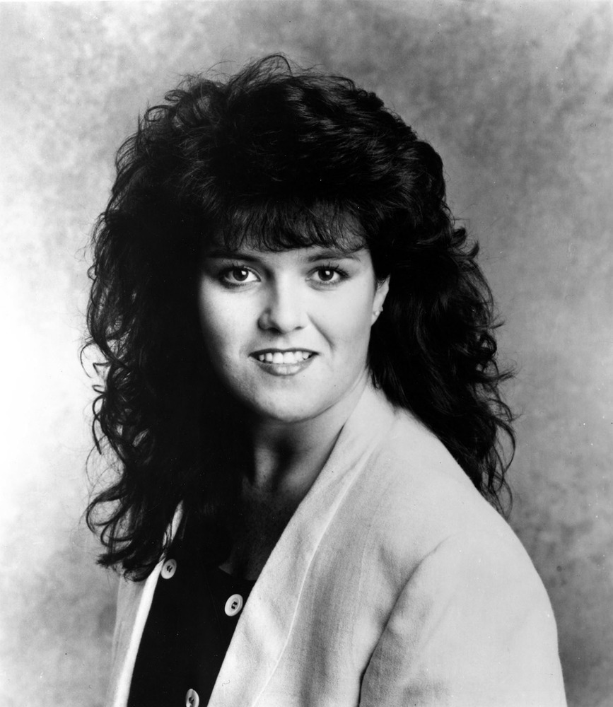 "Rosie O'Donnell was first discovered while performing stand-up comedy on the talent show ""Star Search."" Here she poses for a"
