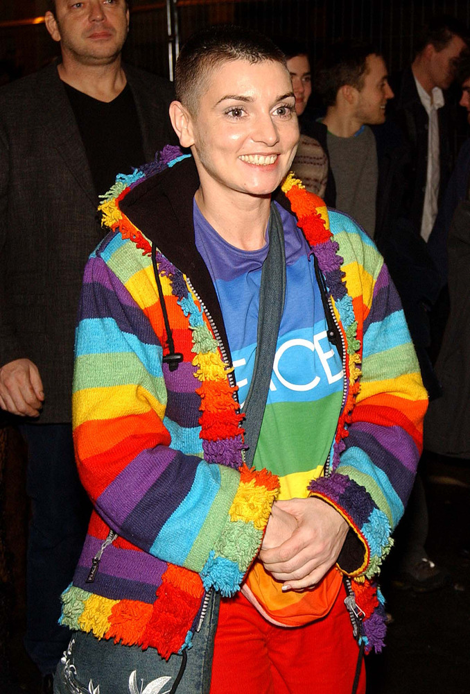 DUBLIN, IRELAND - MARCH 3:  Irish singer Sinead O'Connor attends the Irish Meteor Awards aftershow party at Renards nightclub