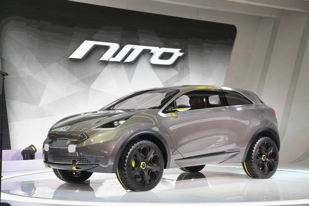 Kia introduces the Niro concept vehicle at the Chicago Auto Show on Feb. 6, 2014, in Chicago, Ill. The show, which is the old