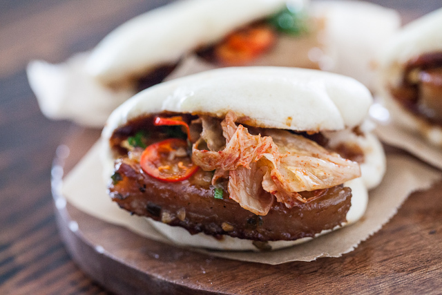 "<strong>Get the <a href=""http://www.steamykitchen.com/22252-pork-belly-buns-recipe.html"" target=""_blank"">Pork Belly Buns reci"