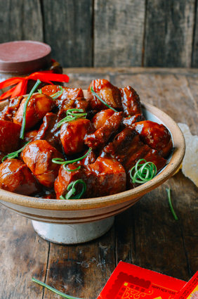 "<strong>Get the <a href=""http://thewoksoflife.com/2015/02/braised-pork-belly-arrowhead-root/"" target=""_blank"">Braised Pork Be"