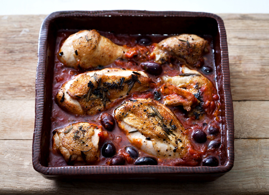 "<strong>Get the <a href=""http://www.huffingtonpost.com/2011/10/27/chicken-provencal_n_1057131.html"">Chicken Provencal recipe<"