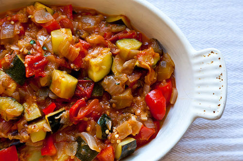 "<strong>Get the <a href=""http://food52.com/recipes/14155-alice-waters-ratatouille"" target=""_blank"">Ratatouille recipe</a> by"