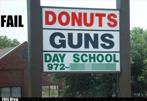Hopefully both are far away from the day school.