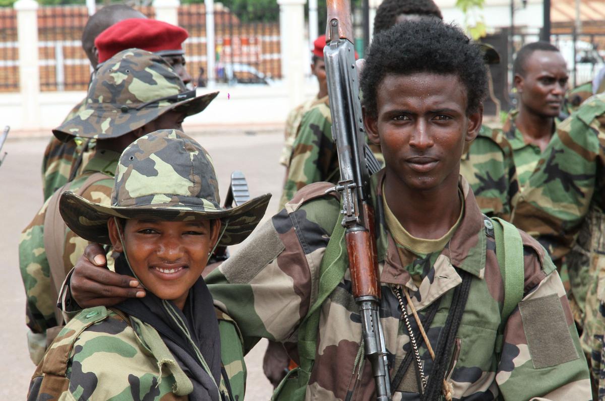 child soldiering The pentagon's jrotc program canvasses public high schools for future soldiers.