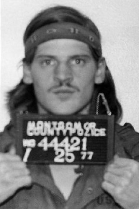 A 1977 police mug shot of Lloyd Welch, also known as Michael Welch.