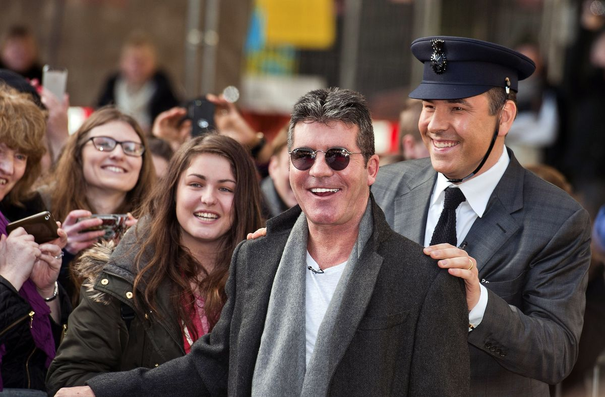 Britain's Got Talent judges Simon Cowell (left) and David Walliams arrive for auditions at the Hammersmith Apollo in west Lon