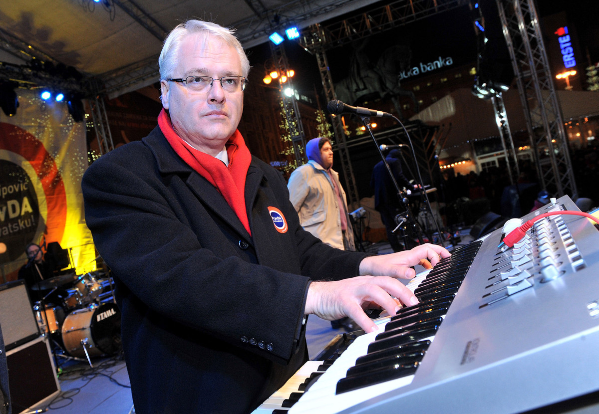 Before turning his hand to politics, Ivo Josipovic had written dozens of classical works and ran Croatia's flagship music festival. Josipovic was elected president in 2010 and vowed at the time  not to give up his musical career, announcing that he would spend his spare time composing an opera on John Lennon's death. Unfortunately, Josipovic admitted later, the role of president had been too time-consuming to allow him to work on the opera, although he did manage to bring a piano into the presidential office.Ivo Josipovic plays keyboards at a pre-election rally in Zagreb, Dec. 22, 2009. (AP Photo/Pixsell)