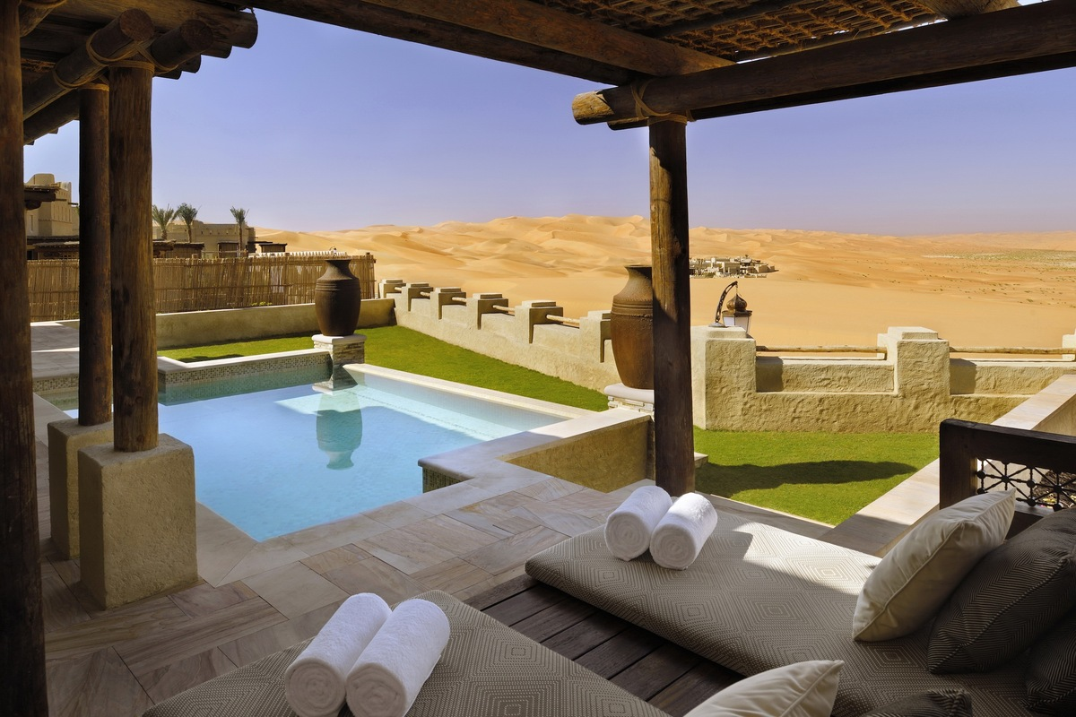 "Rising from the shifting sands, <a href=""http://www.lonelyplanet.com/united-arab-emirates/hotels/qasr-al-sarab-desert-resort-"
