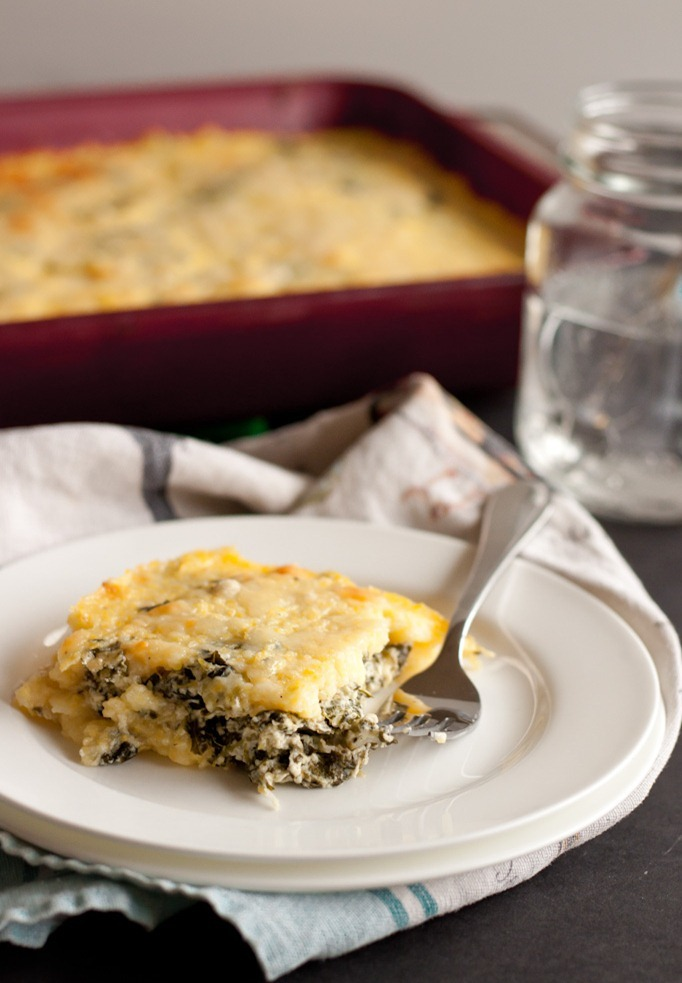 """<strong>Get the <a href=""""http://bloggingoverthyme.com/home/2013/2/25/polenta-al-forno-with-collard-greens-cheddar-ricotta.htm"""