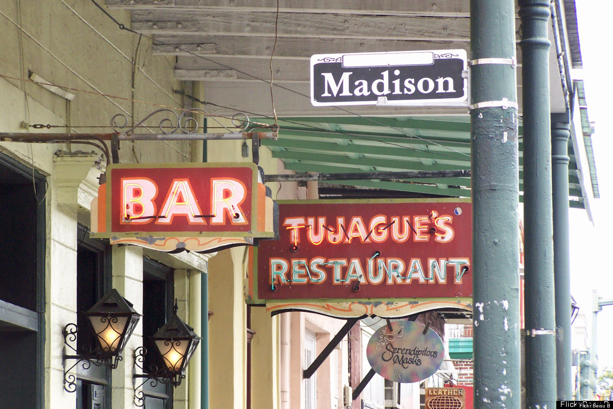 New Orlean's second oldest bar was originally opened as a restaurant in the early 19th century (complete with a brothel on th