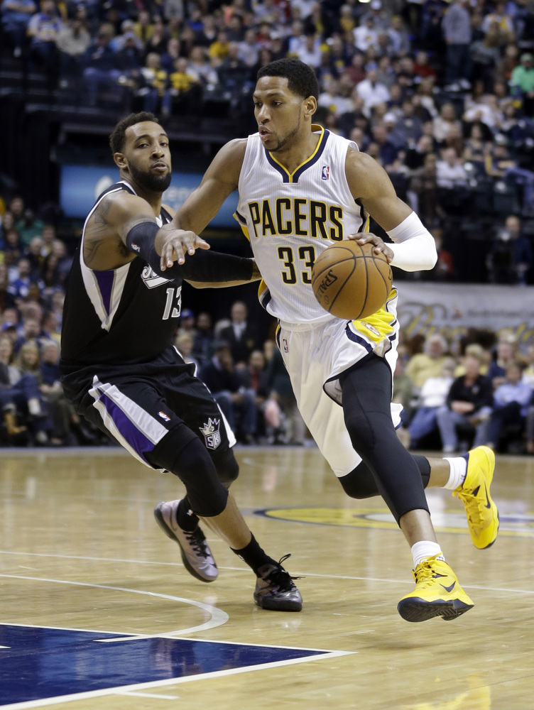 """The Pacers traded Danny Granger to the 76ers for forwards Evan Turner and Lavoy Allen, <a href=""""http://sports.yahoo.com/news/"""