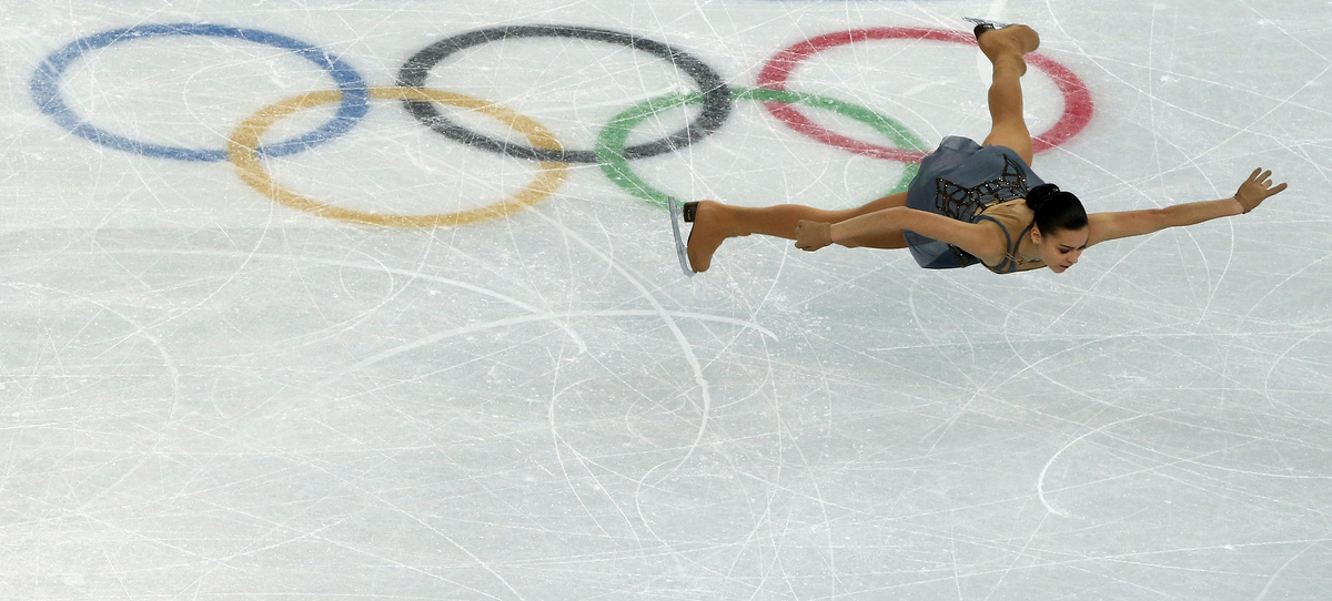 Russia's Adelina Sotnikova performs in the Women's Figure Skating Free Program at the Iceberg Skating Palace during the Sochi
