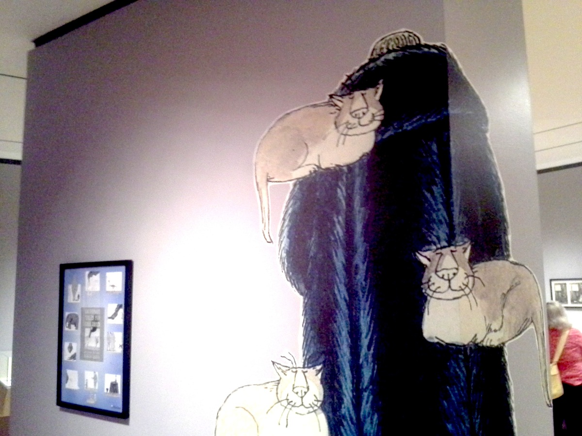 """Gorey was a cat lover and was also known for <a href=""""http://www.theparisreview.org/blog/2011/01/04/the-coats-of-edward-gorey"""
