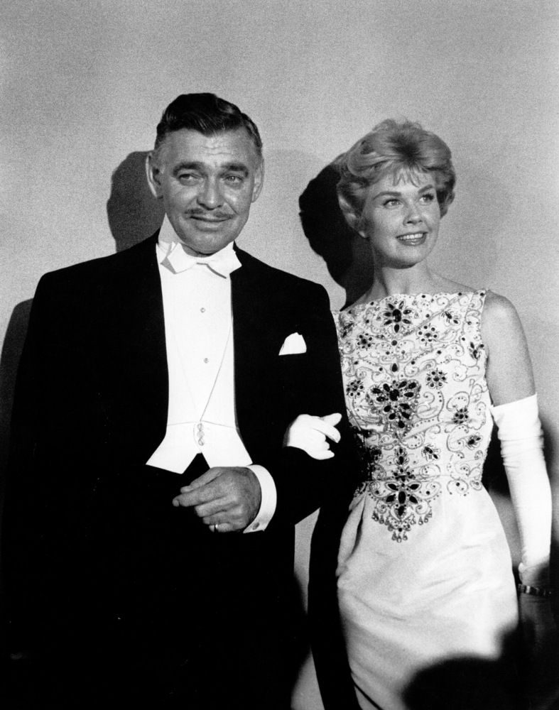 Clark Gable and Doris Day at the 30th annual Academy Awards in 1958.
