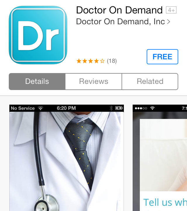 Need the services of a doctor, but don't have time to actually see one in person? Enter Doctor On Demand, a free-to-download/