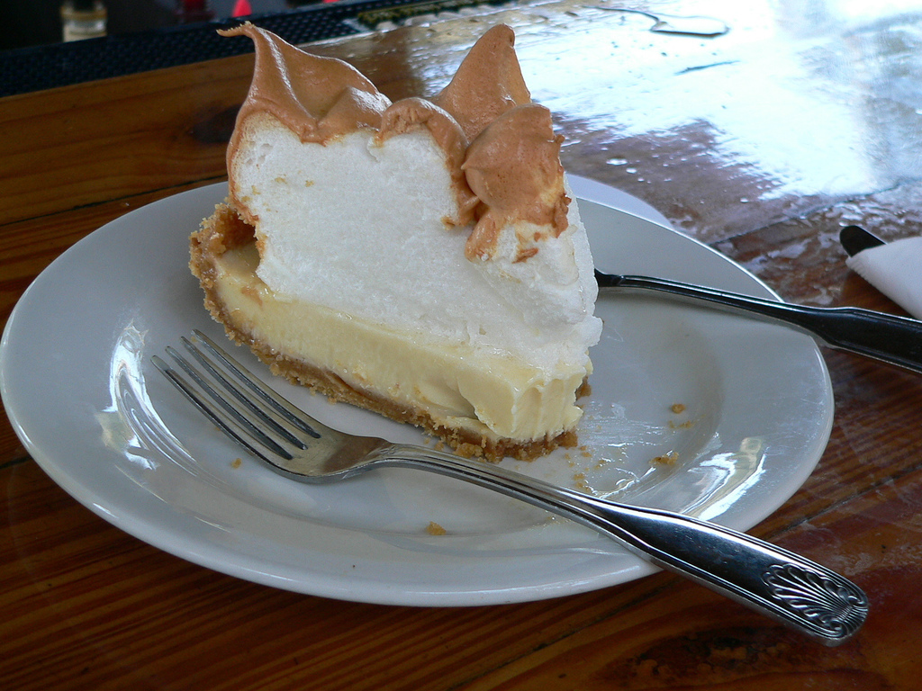 """Yes, we know. We already mentioned key lime pie. But this is sky-high meringue key lime pie from <a href=""""http://www.blueheav"""