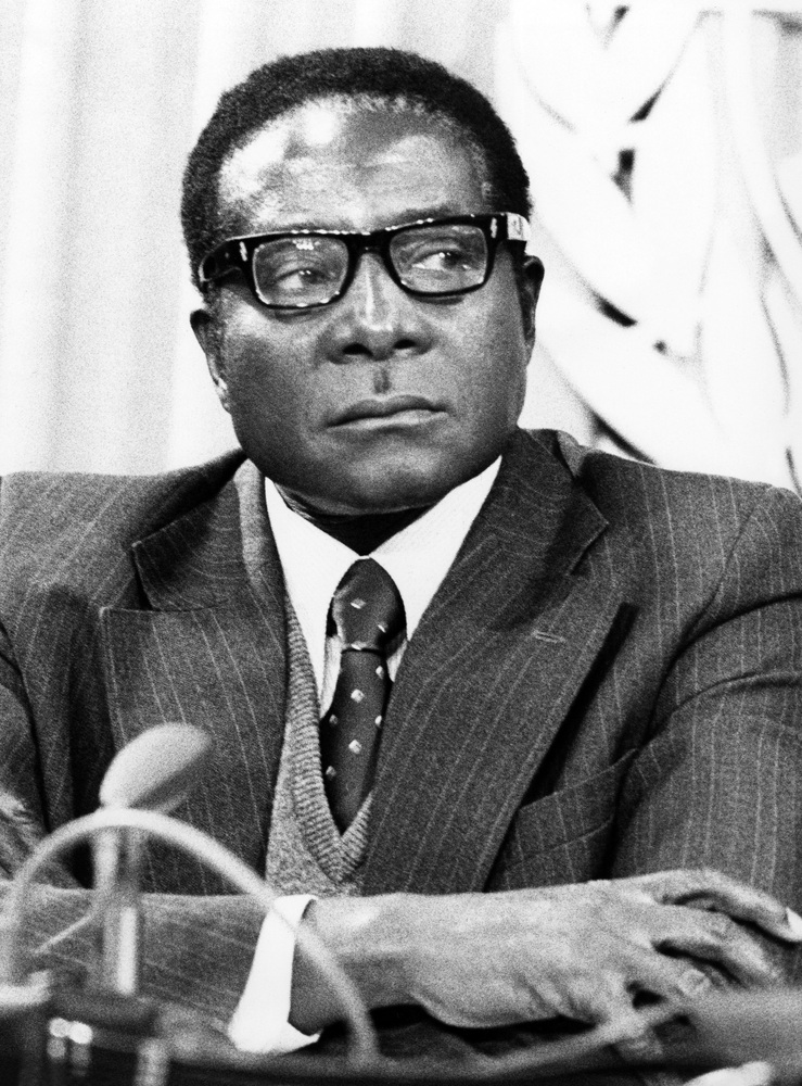 Robert Mugabe, then a guerrilla leader prior to Zimbabwean independence, is pictured on March 8, 1978 at the United Nations.
