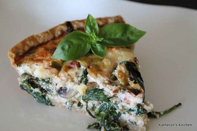 "<strong>Get the <a href=""http://food52.com/recipes/25991-egg-white-quiche-with-leeks-spinach-mushrooms-and-feta"" target=""_bla"