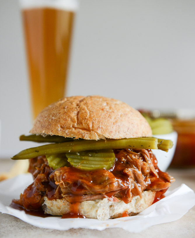 "<strong>Get the <a href=""http://www.howsweeteats.com/2014/05/saucy-pulled-pork-sandwiches/"" target=""_blank"">Saucy Pulled Pork"