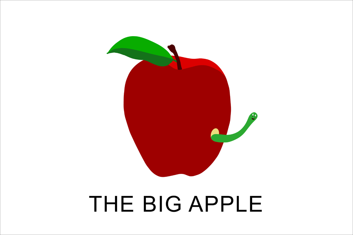 """<strong>JOHN BALDESSARI</strong> """"The Big Apple"""" Inkjet print on paper 8 x 10 inches <em>""""I distrust the perfect apple. Every"""