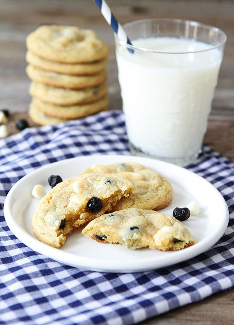 """<strong>Get the <a href=""""http://www.twopeasandtheirpod.com/lemon-blueberry-pudding-cookies/"""" target=""""_blank"""">Lemon Blueberry"""