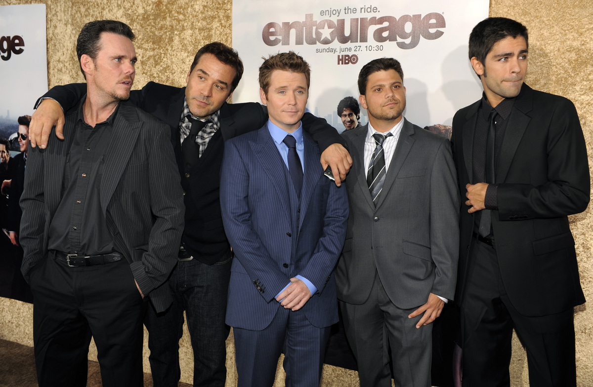 "FILE - This June 16, 2010 file photo shows ""Entourage"" cast members, from left, Kevin Dillon, Jeremy Piven, Kevin Connolly, J"