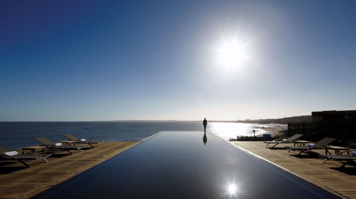The artistic hotel, Playa Vik, is home to a truly fantastic 75-foot black nero granite infinity pool, which even boasts a fib