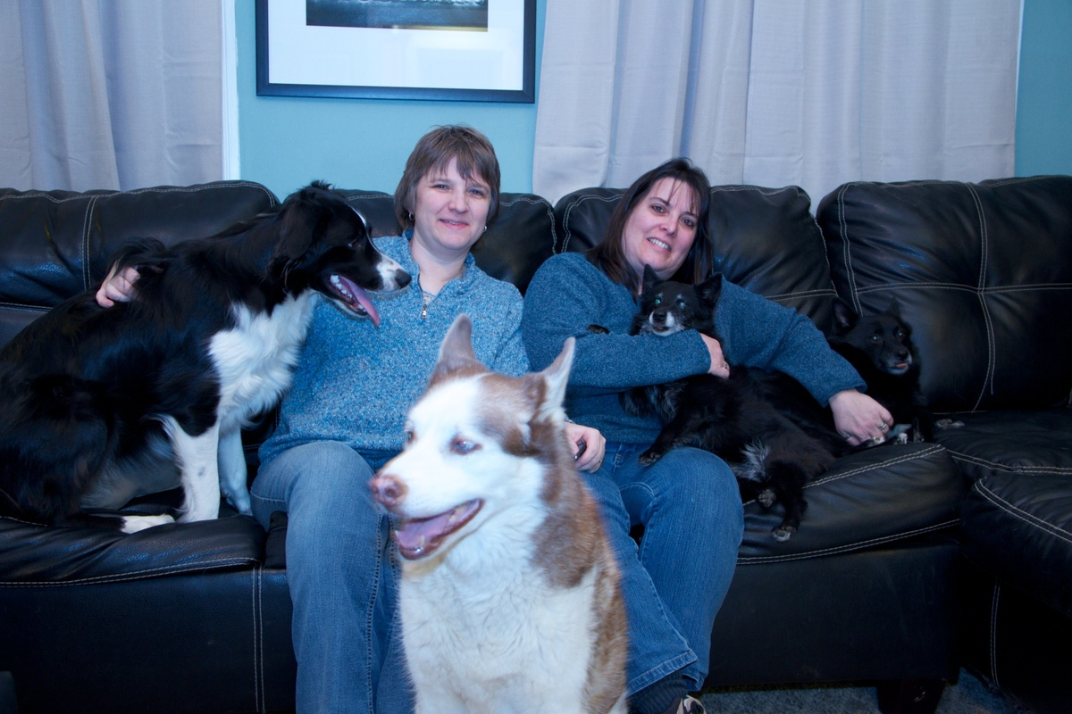 As prospective foster and adoptive parents, Ami and Val took this photo for their family profile in January of this year. The