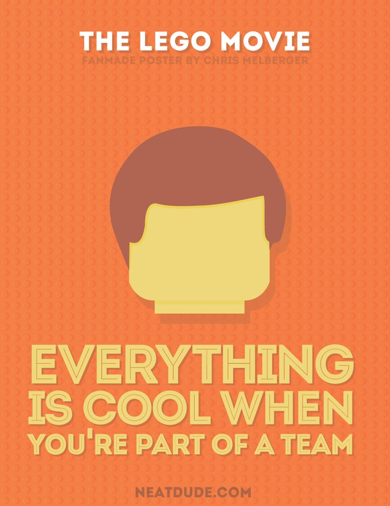 These Minimalist Posters Will Make You Love 'The Lego Movie' Even ...