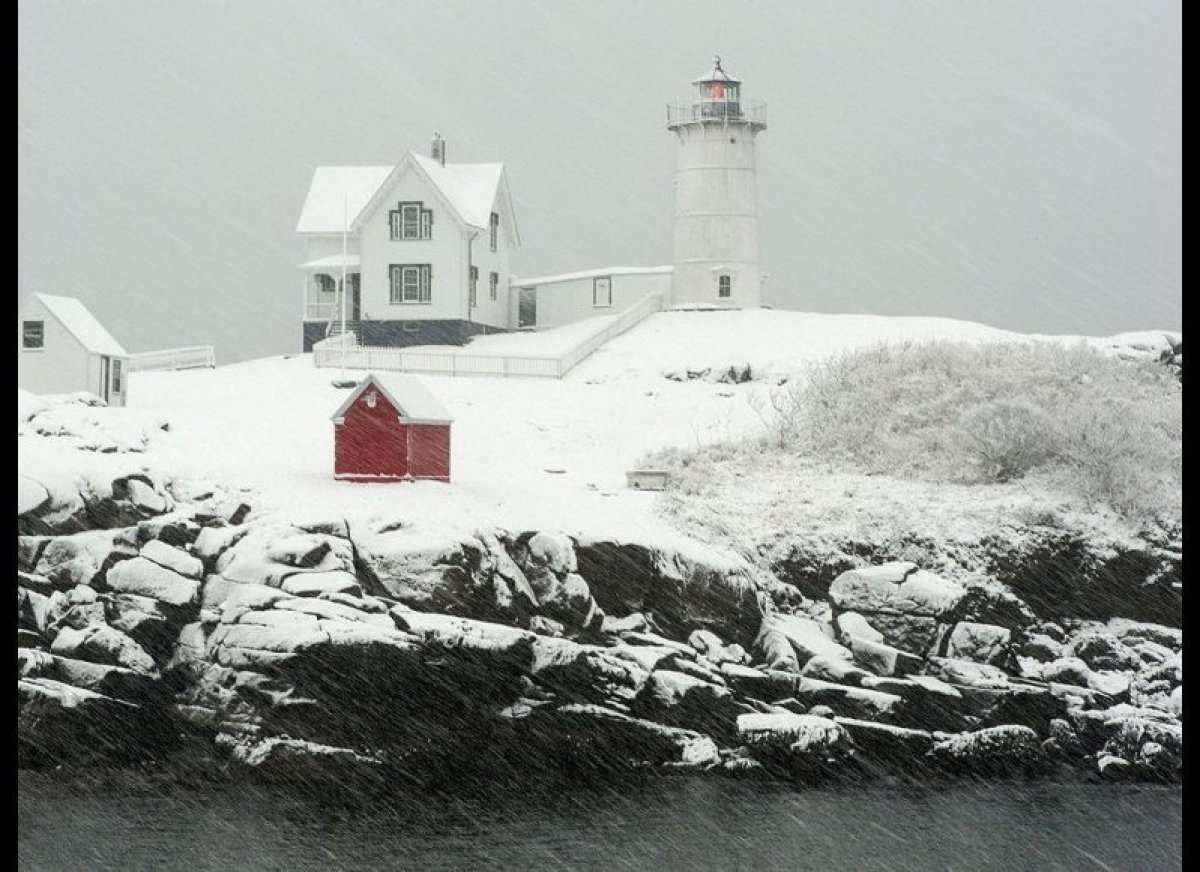 """<strong>CAPE NEDDICK """"NUBBLE"""" LIGHTHOUSE  Location: York, Maine</strong>  Although Cape Neddick is its official name, Nub"""