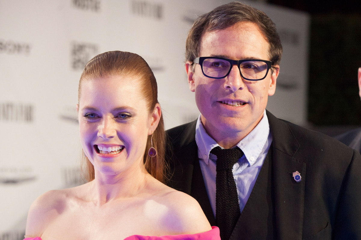 WEST HOLLYWOOD, CA - FEBRUARY 27:  Amy Adams and David O. Russell arrive for the Vanity Fair Campaign Hollywood 'American Hus