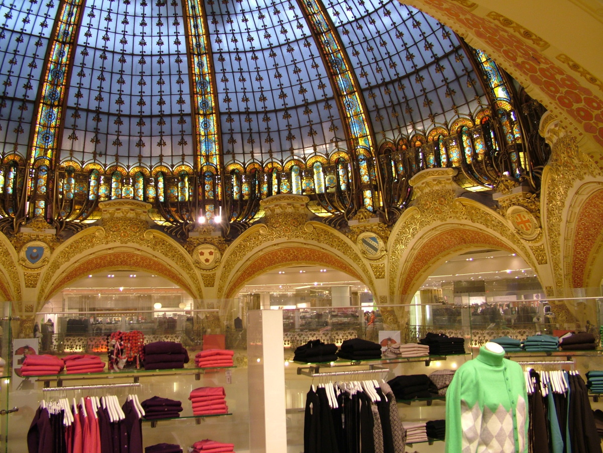 """<a href=""""http://www.galerieslafayette.com/"""" target=""""_hplink"""">Galeries Lafayette </a>first opened in 1893 and has since expand"""