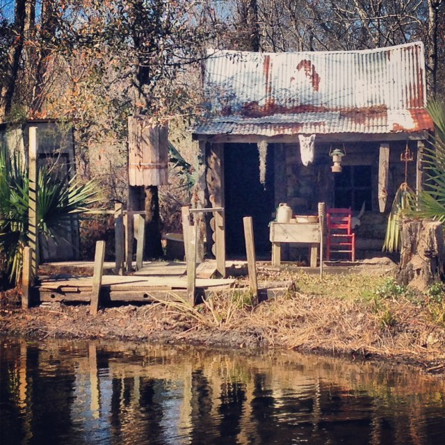 New Orleans Swamp Shack on a swamp tour  -Maria