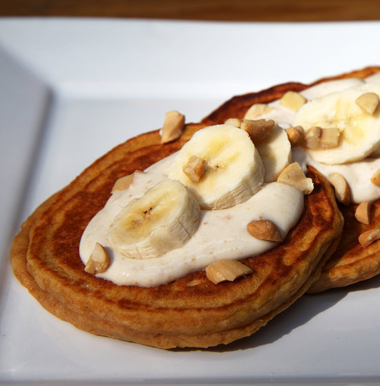 These pancakes sound like an ideal way to start the day, combining everything from fruits to veggies to calcium to protein. W