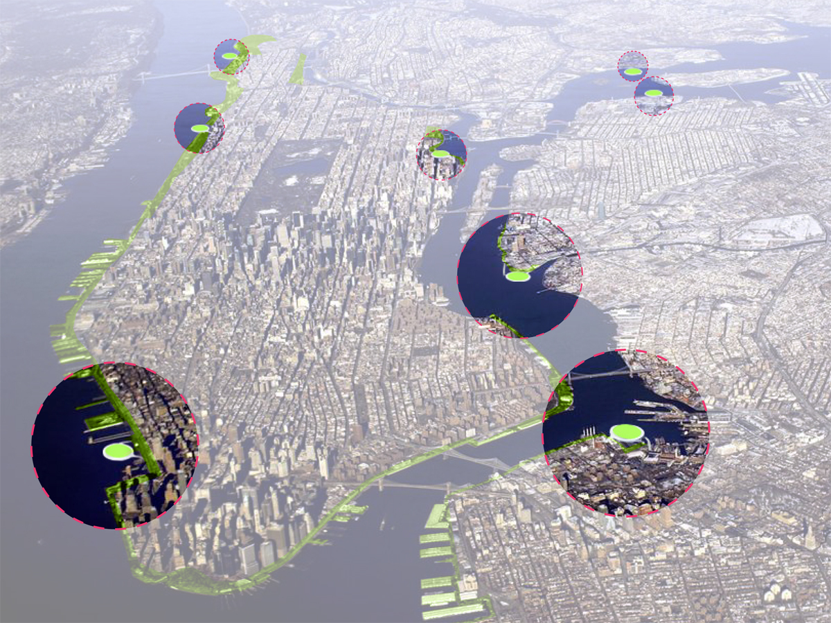 "<br>The Green Loop proposal envisions a network of 10 waterfront composting hubs in New York City, according to <a href=""http"