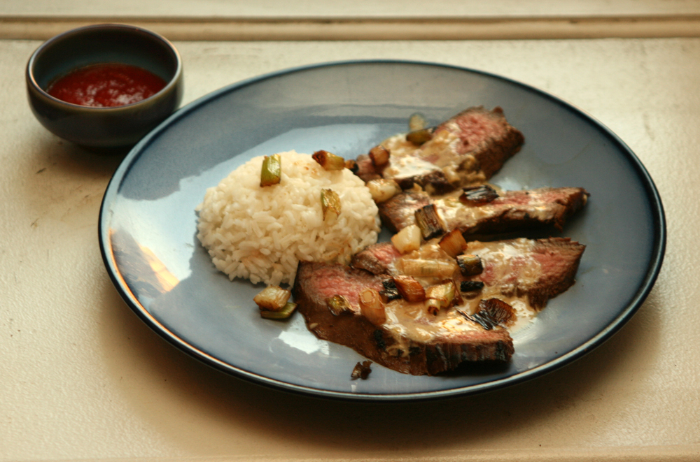 "<strong>Get the <a href=""http://food52.com/recipes/13376-flank-steak-chinois"" target=""_blank"">Flank Steak Chinois recipe</a>"