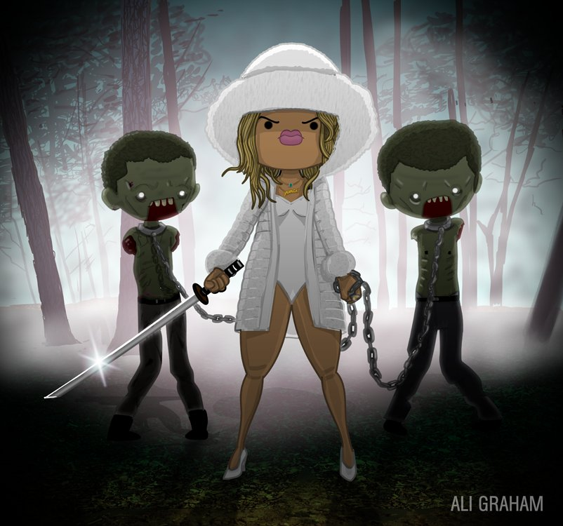 "Fans of Queen Bey and ""The Walking Dead"" will get a kick out of <a href=""http://beyoncevszombie.tumblr.com/"" target=""_blank"">"