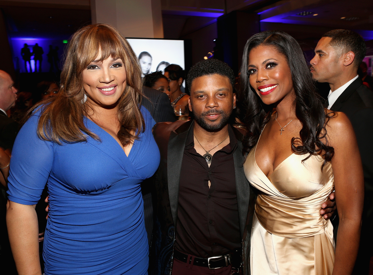 PASADENA, CA - FEBRUARY 22: (L-R) Actress Kym Whitley, actor Carl Anthony Payne II and Omarosa Manigault attend the after par