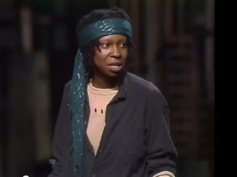 "In 1983, Whoopi appeared off-Broadway in ""The Spook Show"", a one-woman tour-de-force that featured all of her wildly original"