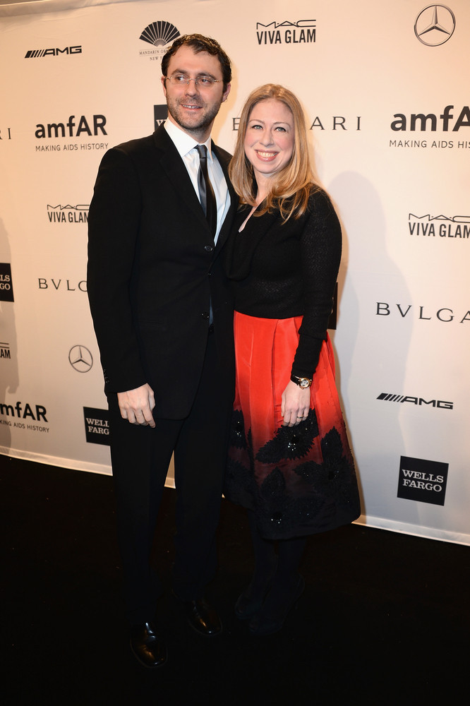 At just 34 years of age, Chelsea Clinton (pictured here with husband Marc Mezvinsky) has already lived a rich and exciting li